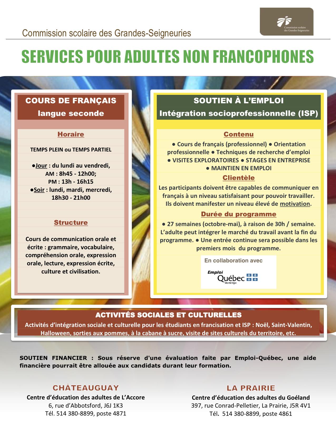 Francisation et ISP CSDGS